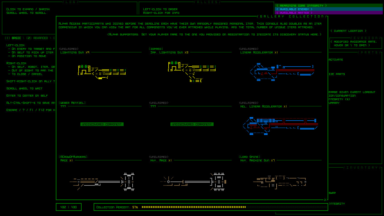 Cogmind weapons