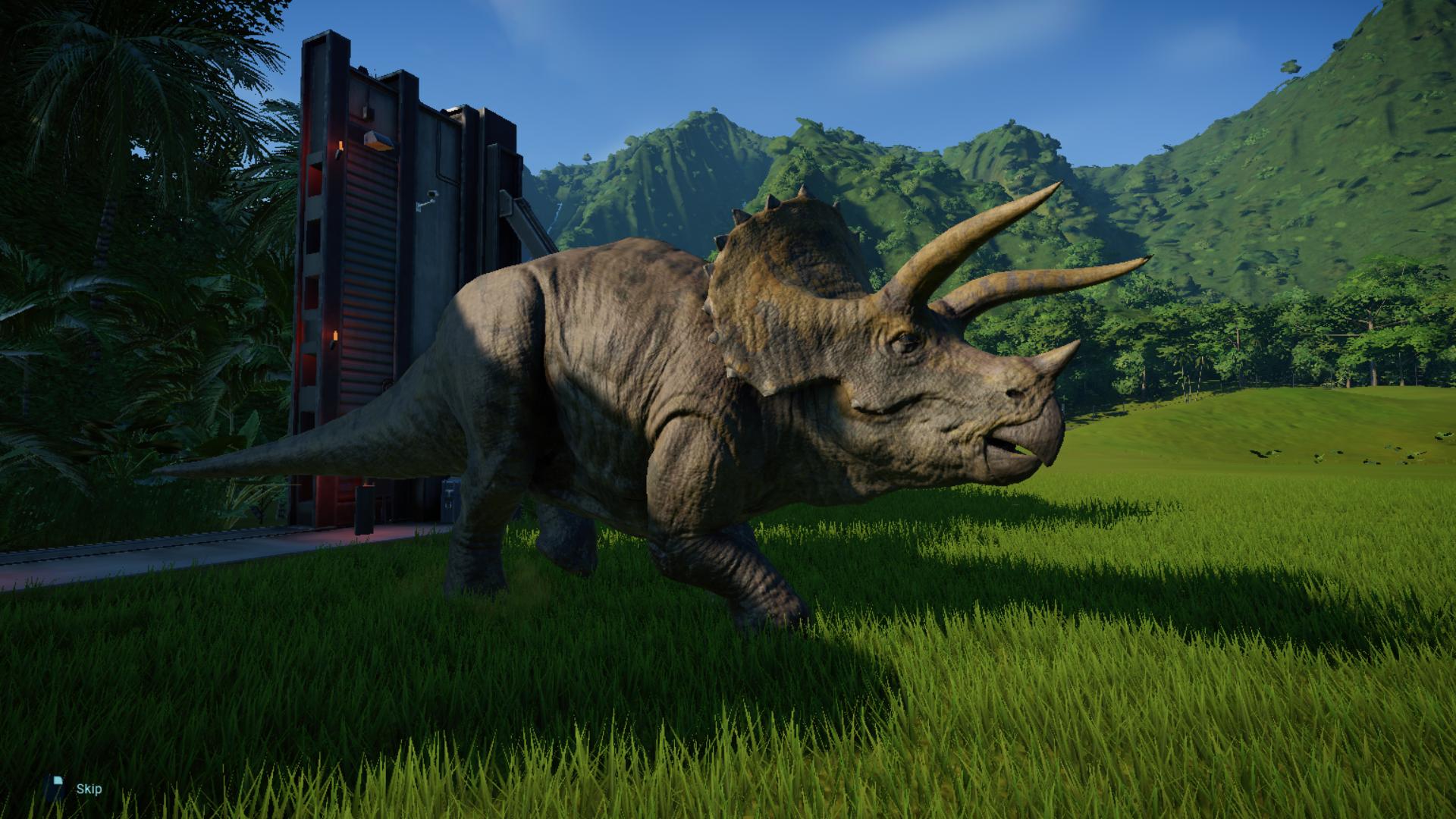 Jurassic World Evolution triceratops