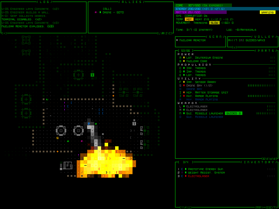 Sci-fi text based roguelike Cogmind hits early access