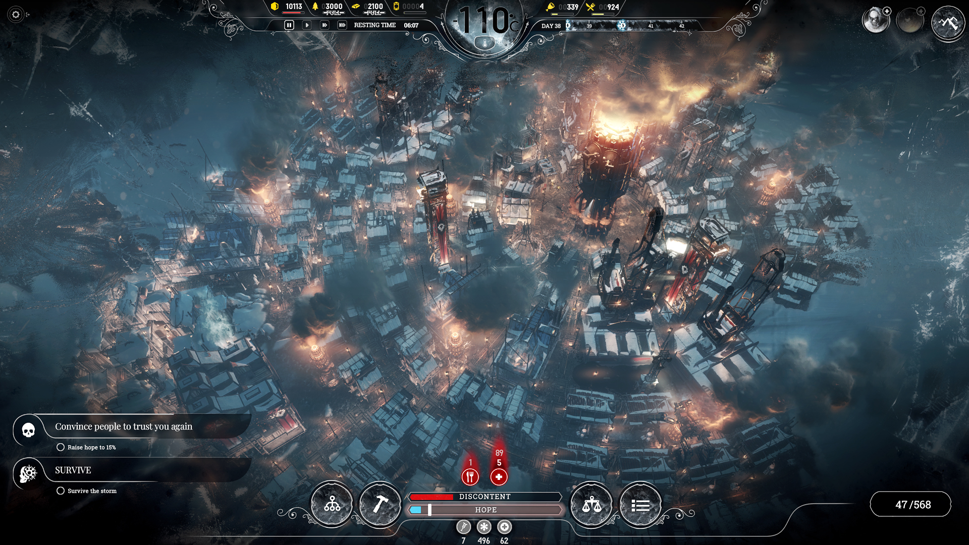 City-survival Frostpunk launched today for PC