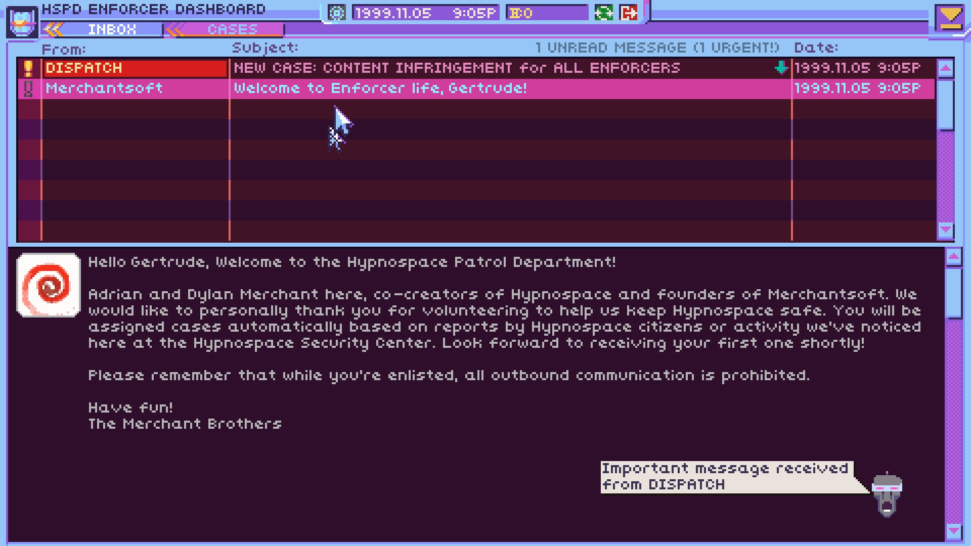 Hypnospace Outlaw coming to PC, Mac and Linux