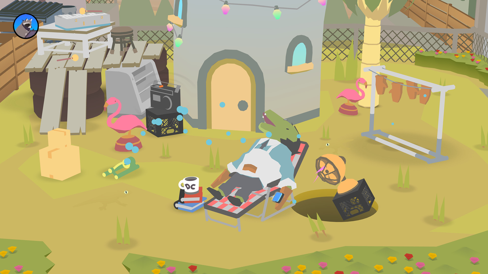 Donut County out now on Nintendo Switch and Xbox One