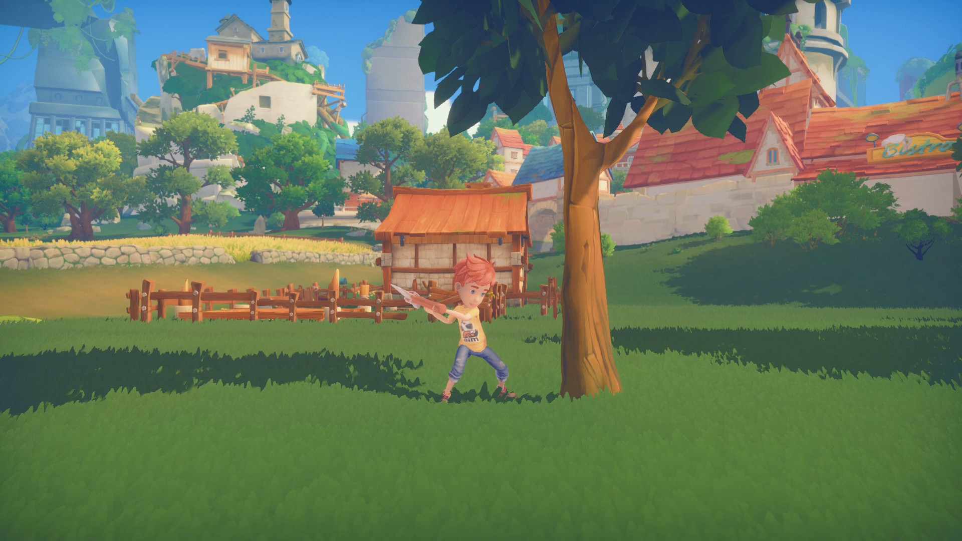 My Time At Portia - Tree Chopping