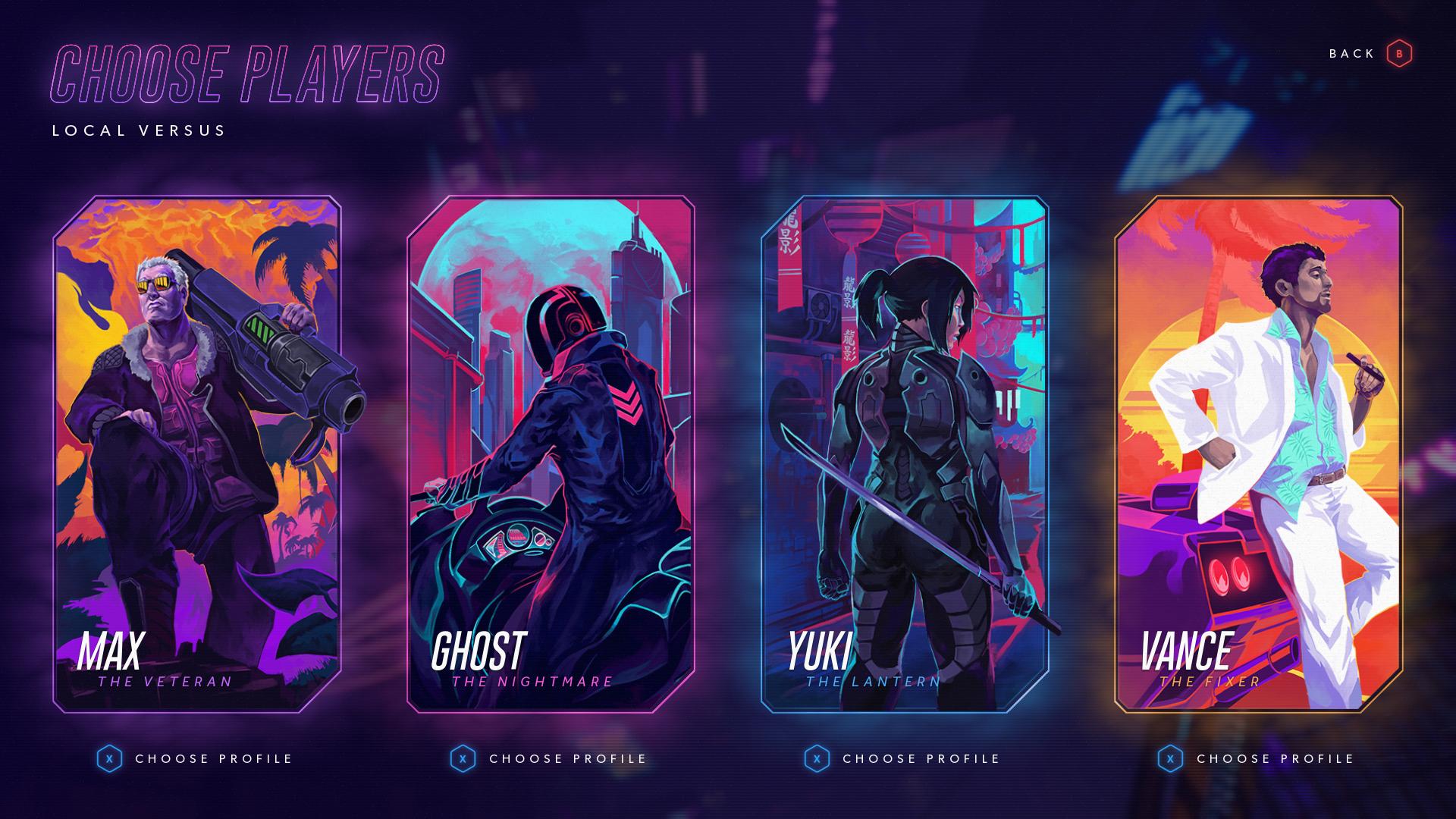 Hyper Jam - Characters