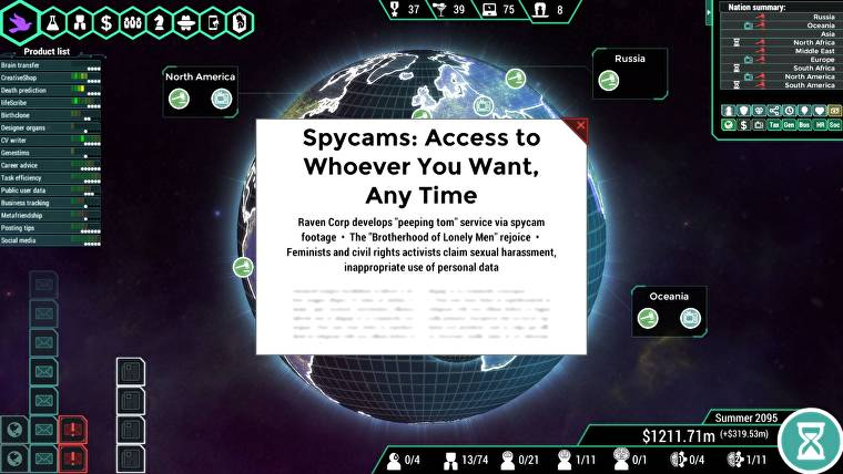 Cyberpunk management sim Spinnortality out now