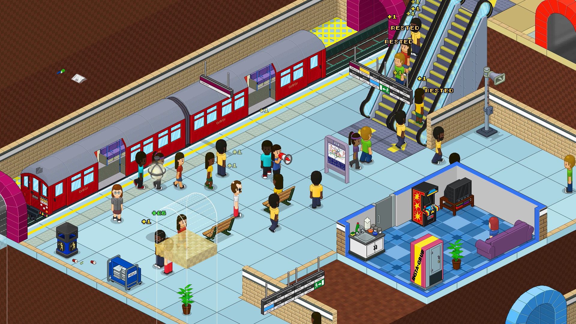 Manage a modern nightmare in Overcrowd: A Commute 'Em Up