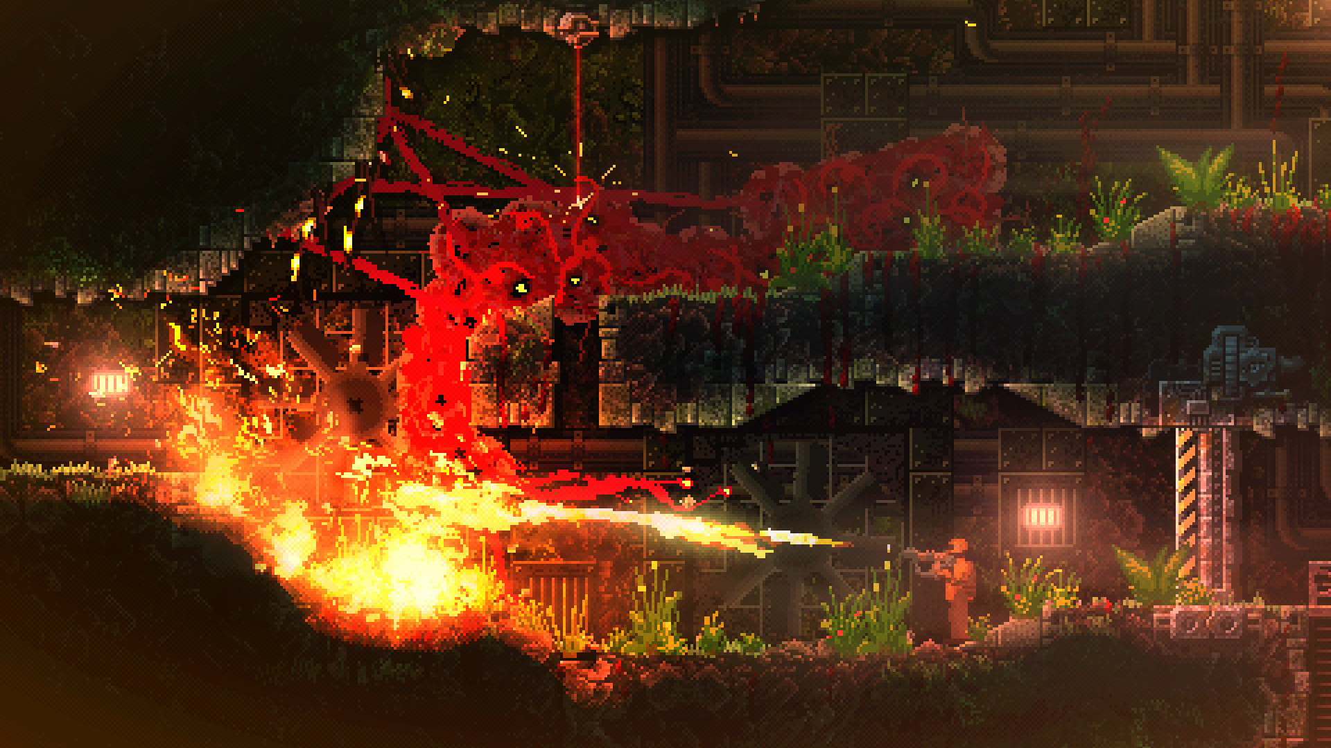 Devolver's CARRION is a reverse horror in which you play the monster