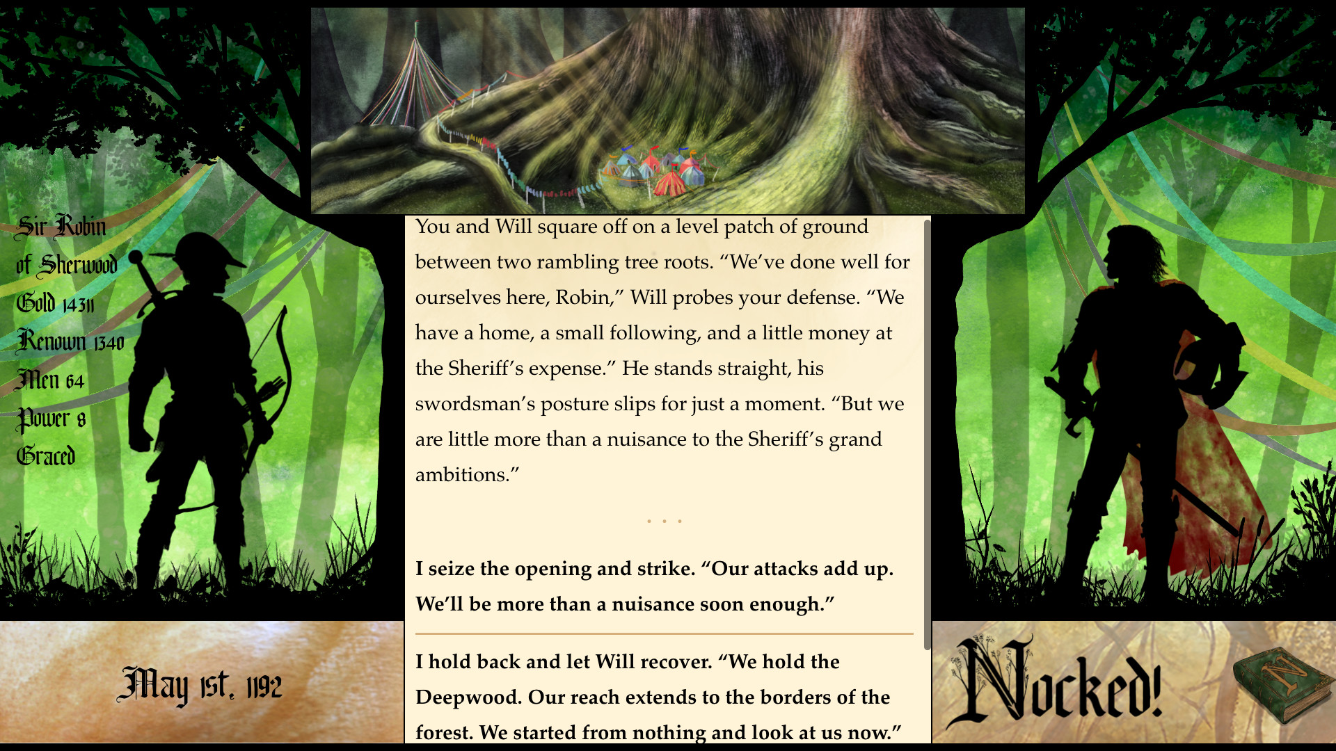 Nocked! is a Robin Hood RPG where you tell the story