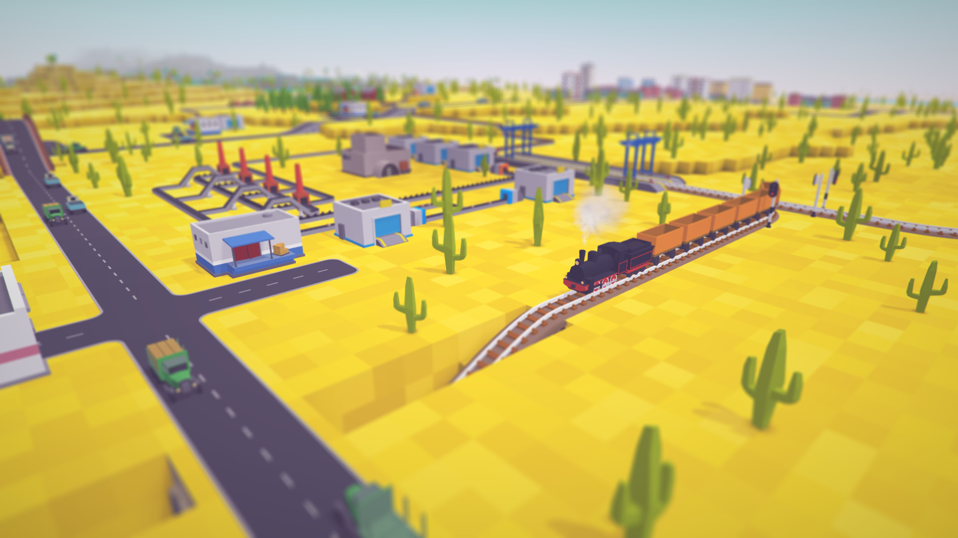 Destroy the cutest towns in strategy game Voxel Tycoon
