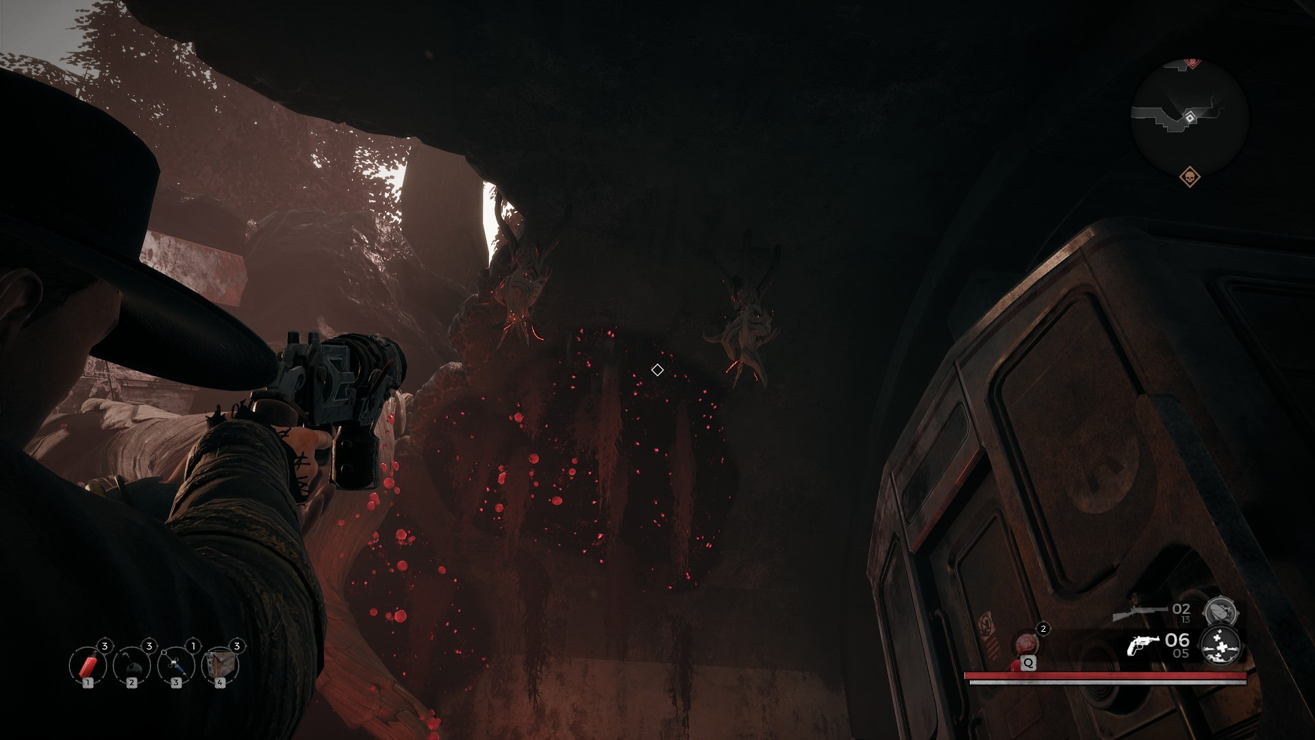 Remnant enemies on the ceiling