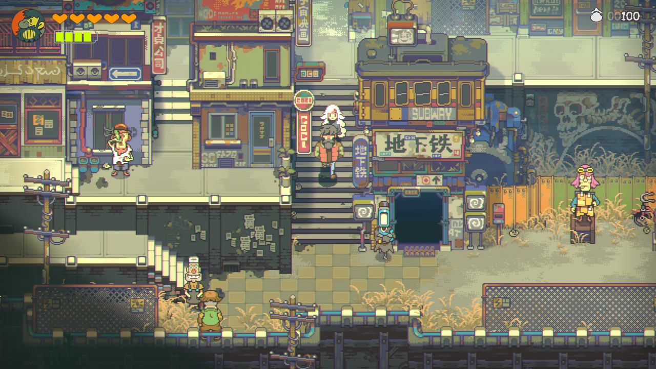 Eastward is a post-apocalyptic pixel version of The Last of Us