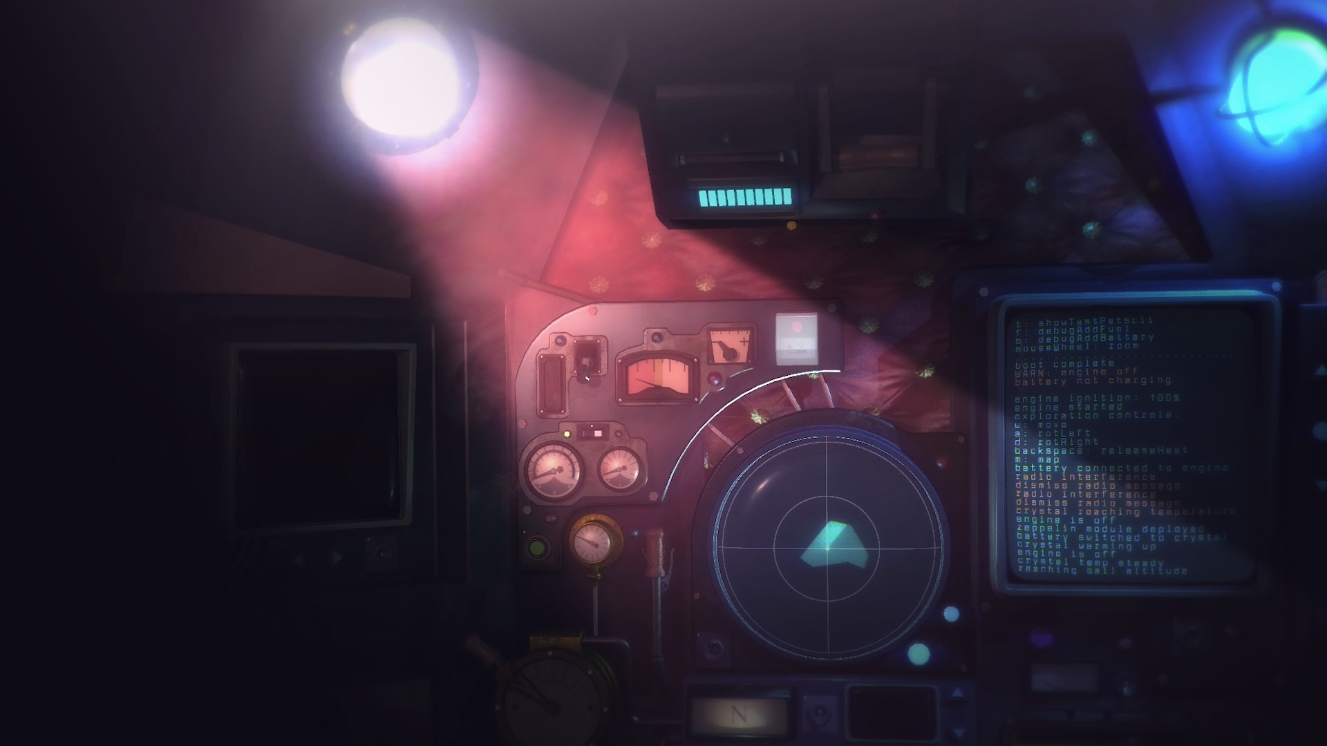 Nauticrawl is an enigmatic adventure set in the innards of an alien vehicle