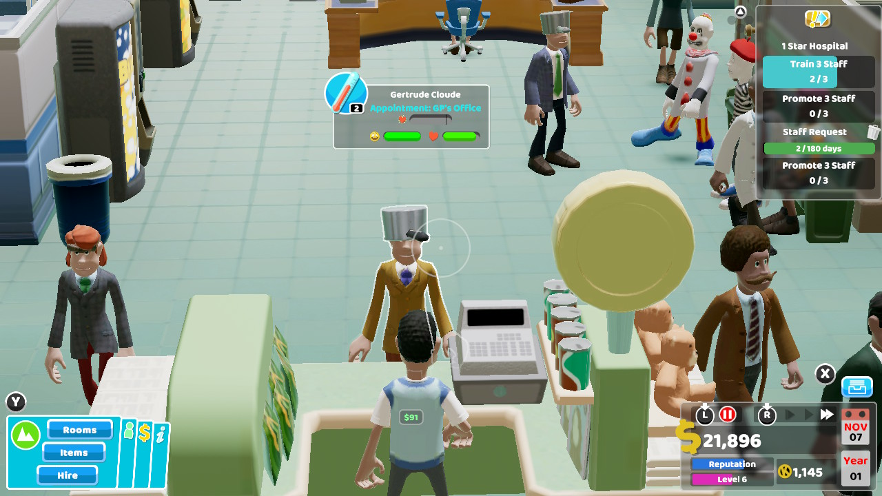 Two Point Hospital Switch Review | The Indie Game Website