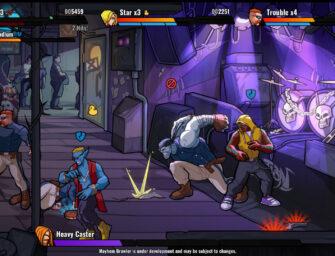 Punch bad guys in the comic-like brawler, Mayhem Brawler